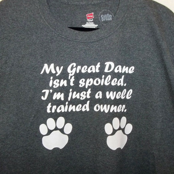 62fc60db68e1 Hanes Shirts | Great Dane Mens Tshirt Xl Dog Paw Prints | Poshmark
